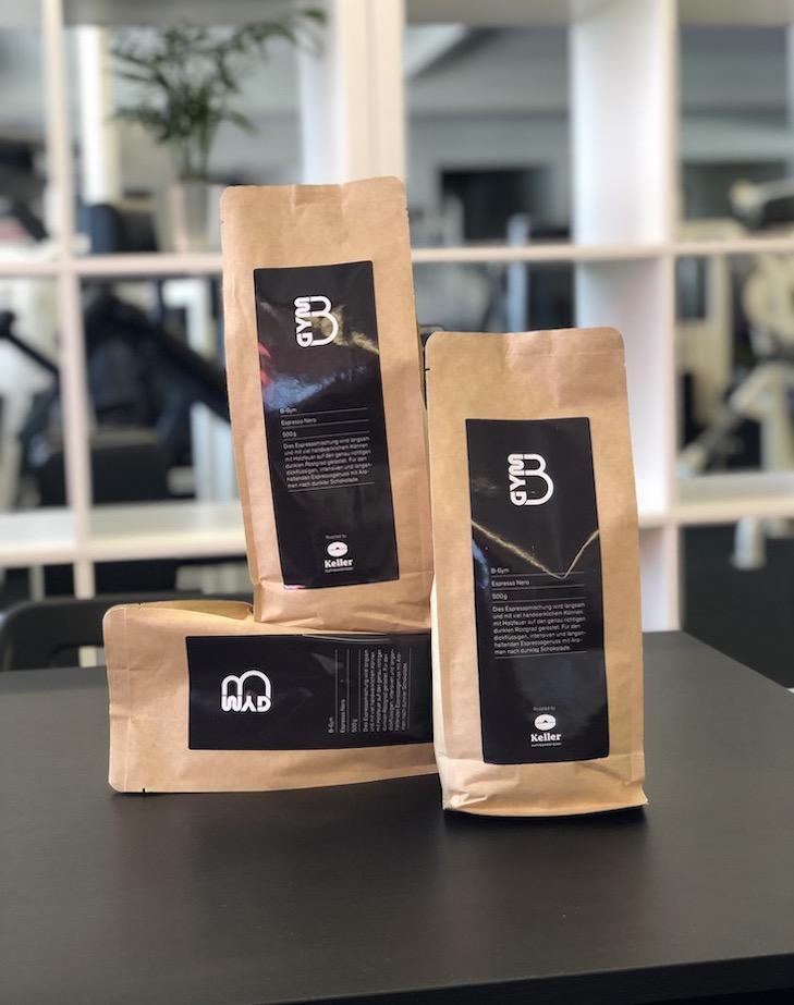 Der B-Gym Fitnesskaffee Verpackung